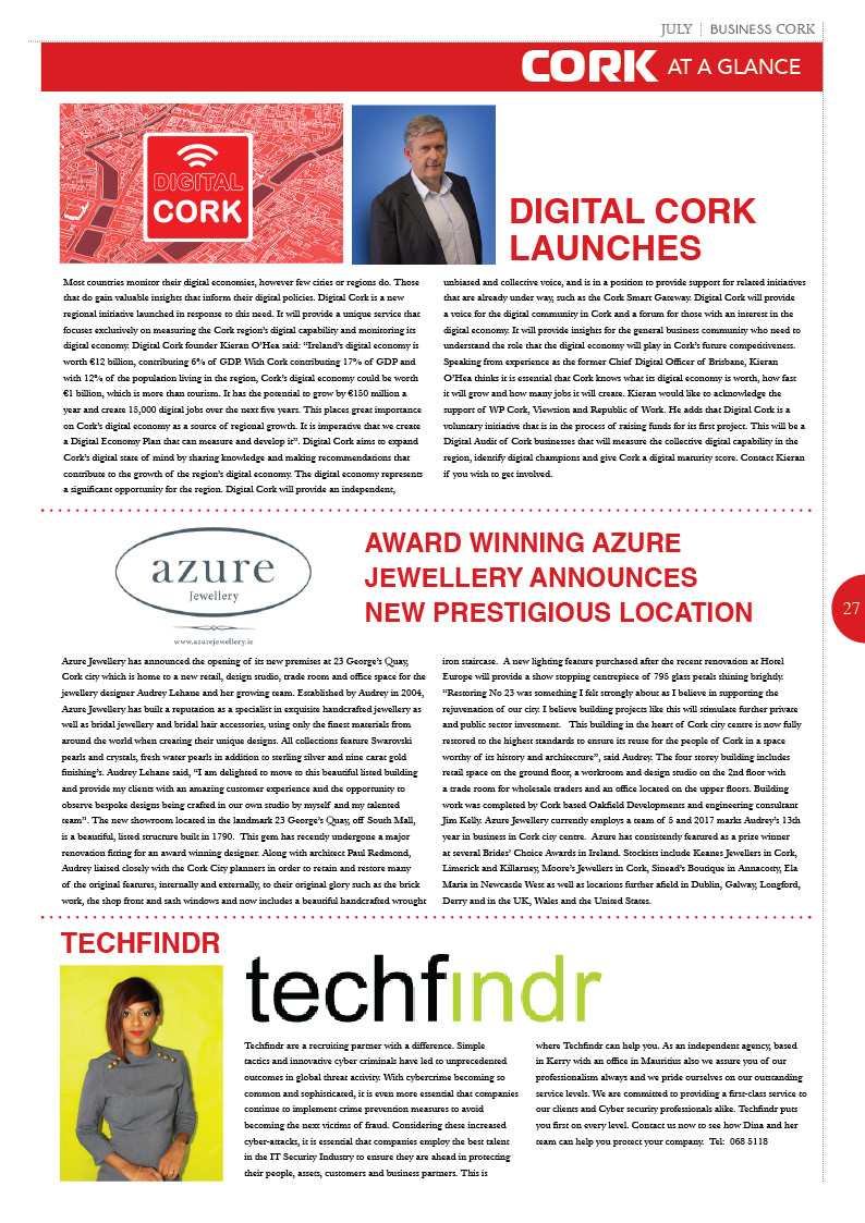 business cork | cork's no. 1 monthly magazine